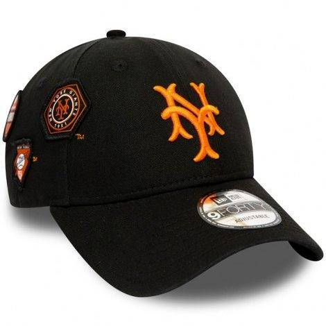 9FORTY MLB NEW YORK METS COOPERSTOWN PATCHED BLACK CAP
