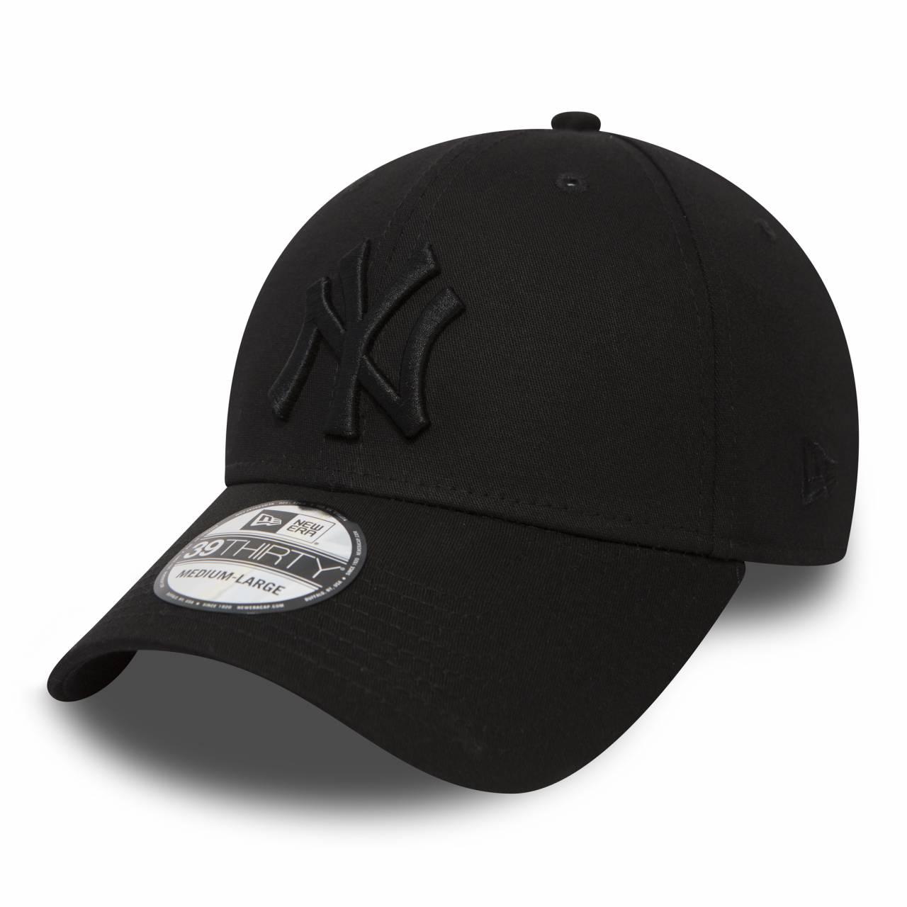10145637 39THIRTY NEW YORK YANKEES STRETCH BLACK/BLACK CAP