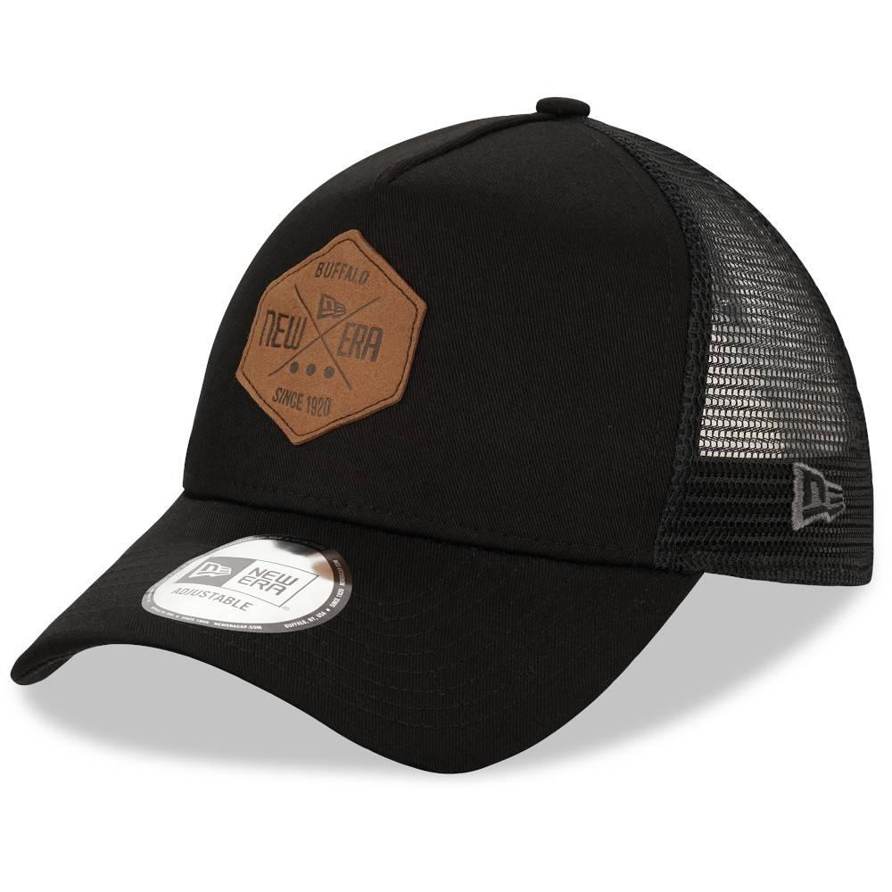 12523902 TRUCKER A-FRAME NEW ERA PATCH BLACK CAP