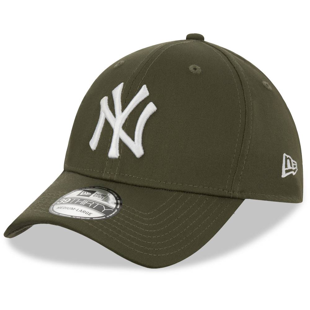 12523890 39THIRTY MLB NEW YORK YANKEES OLIVE STRETCH FITTED CAP