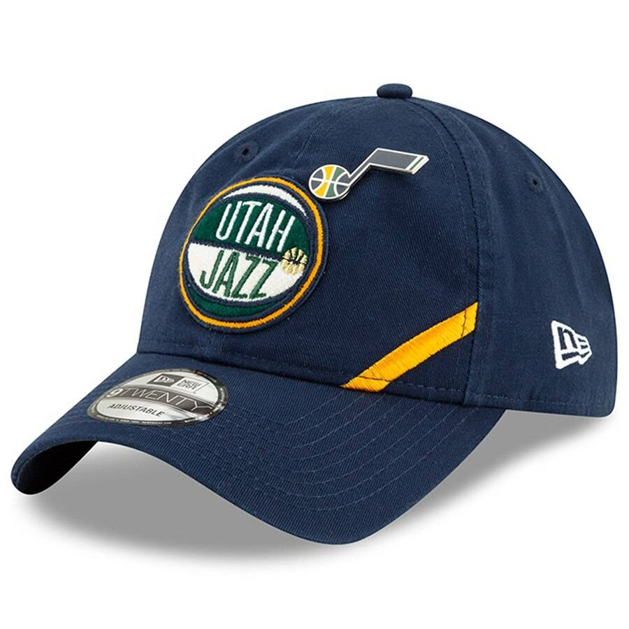 12041687 9TWENTY NBA DRAFT UTAH JAZZ SOFT CROWN NAVY CAP