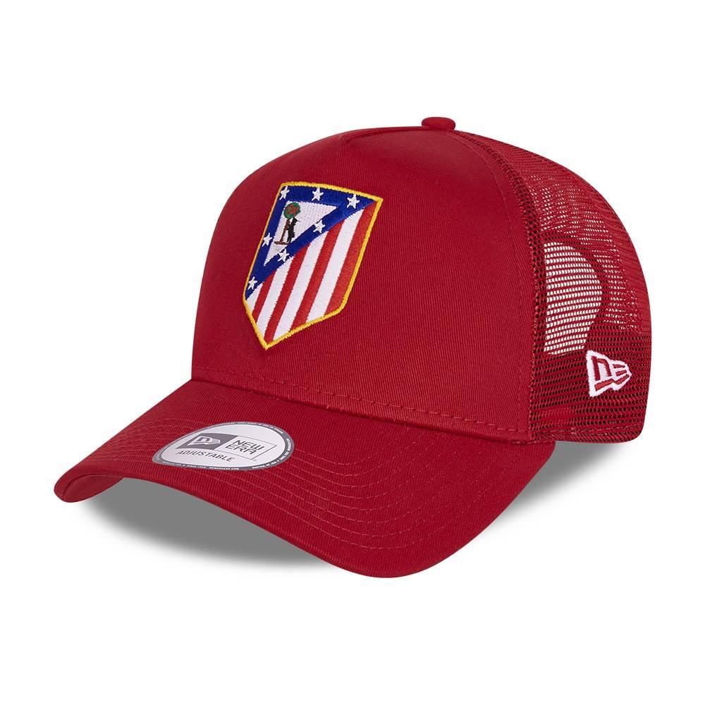 NEW ERA TRUCKER ATLETICO MADRID SCARLET CAP