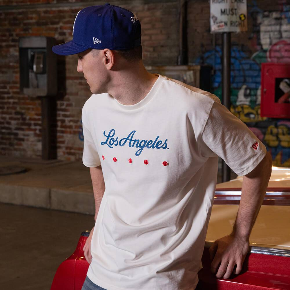 T-SHIRT MLB LOS ANGELES DODGERS HERITAGE WEISS OVERSIZED