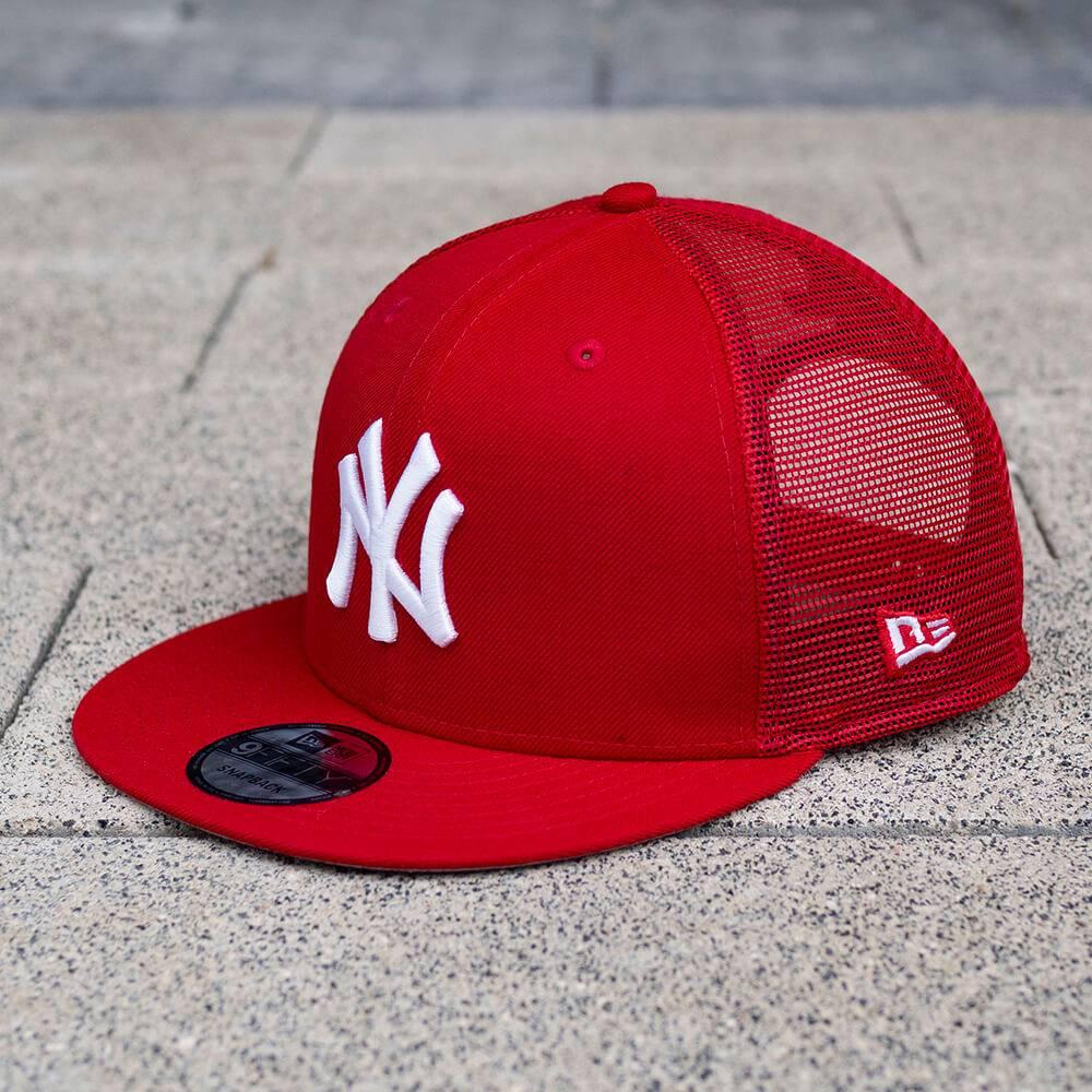 LIMITED 9FIFTY MLB NEW YORK YANKEES SCARLET MESH SNAPBACK/GREY UV