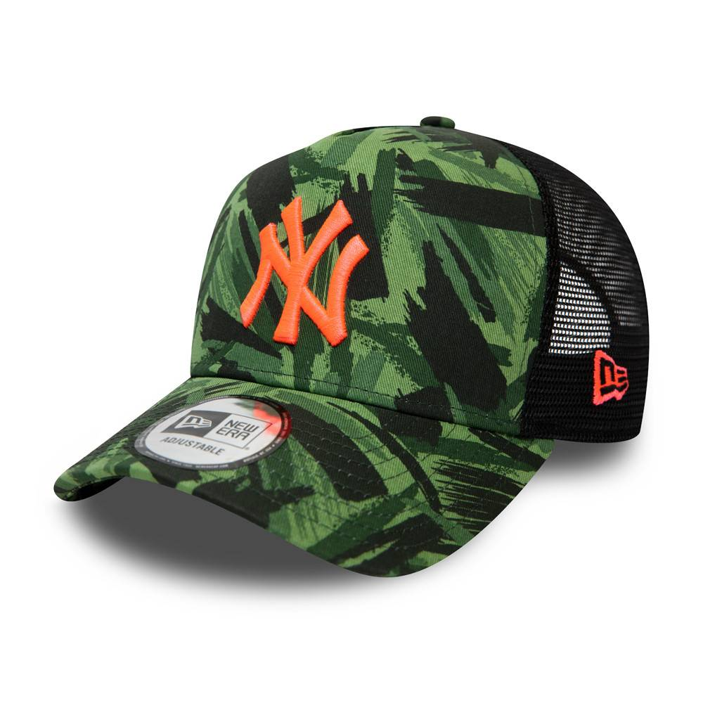9FORTY MLB NEW YORK YANKEES A-FRAME TRUCKER CAMO GREEN