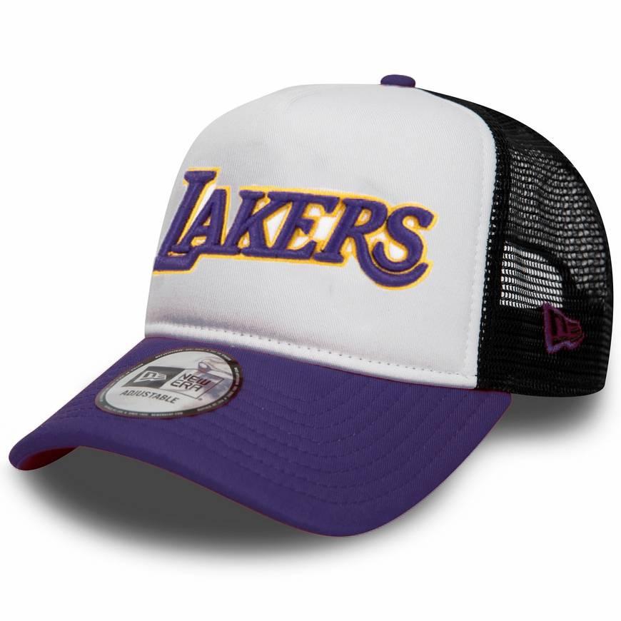 11901825 NBA TRUCKER LOS ANGELES LAKERS PURPLE/WHITE CAP