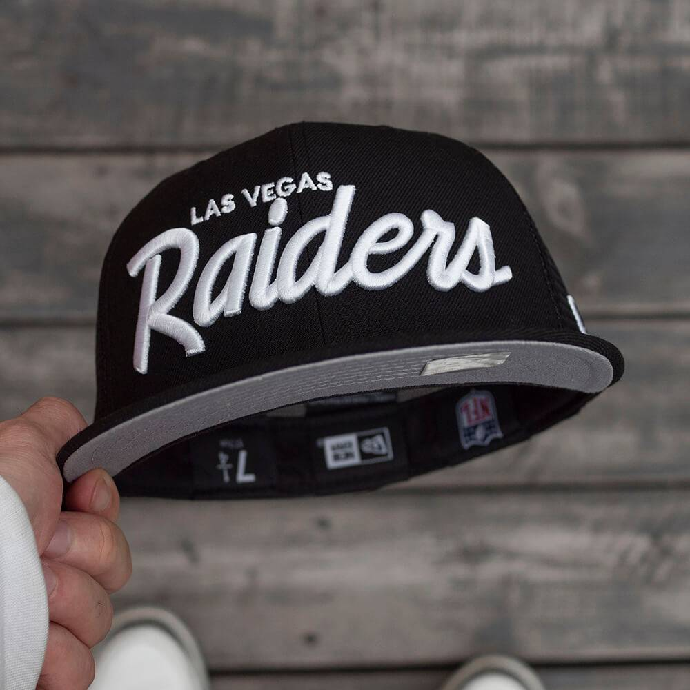 LIMITED 59FIFTY NFL LAS VEGAS RAIDERS BLACK MESH FITTED/GREY UV
