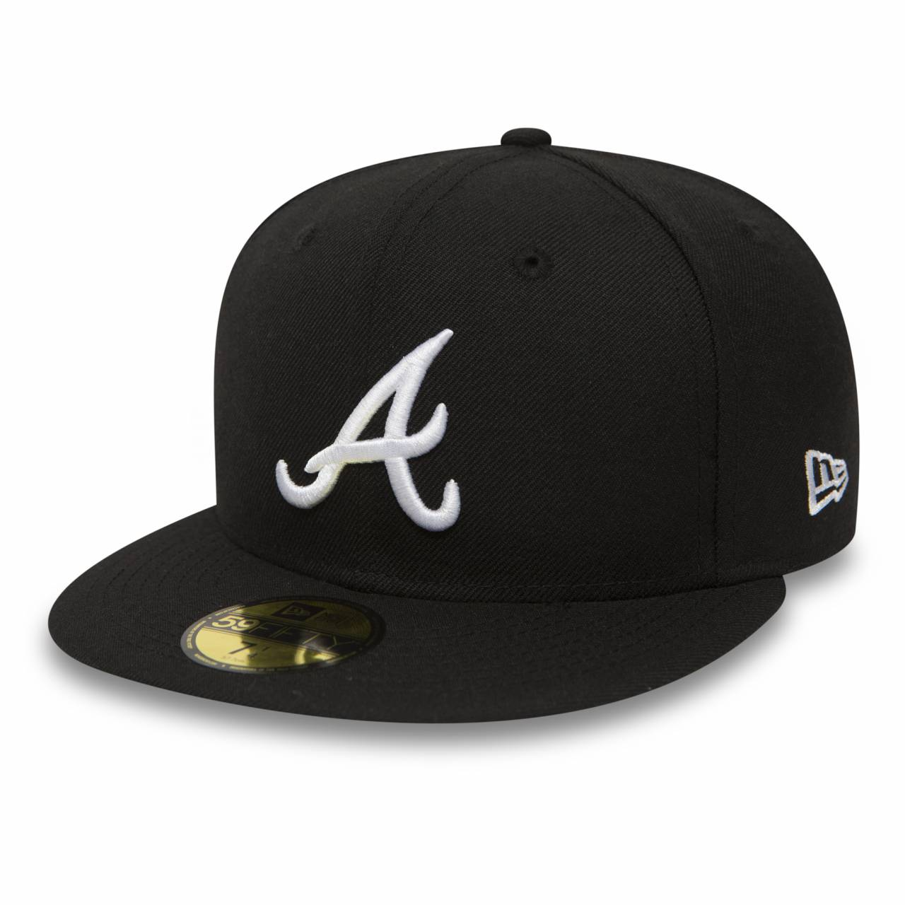 10047487 59FIFTY ATLANTA BRAVES BLACK/WHITE FITTED CAP