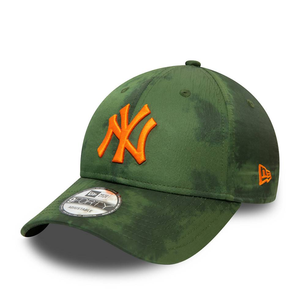 9FORTY MLB NEW YORK YANKEES POLY PRINT OLIVE
