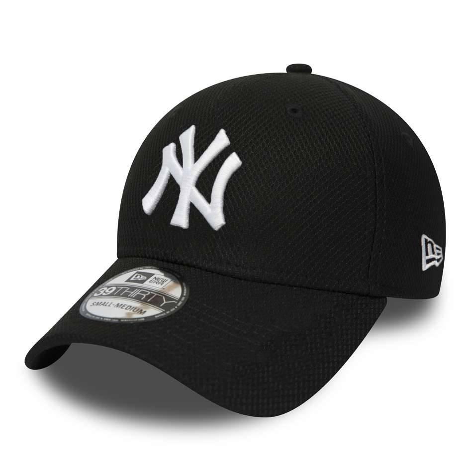 12523909 39THIRTY MLB NEW YORK YANKEES DIAMOND ERA STRETCH FIT BLACK CAP