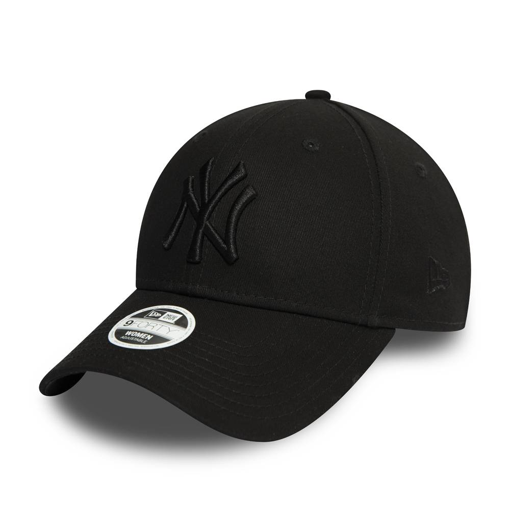 12122742 WOMAN 9FORTY NEW YORK YANKEES BLACK/BLACK CAP