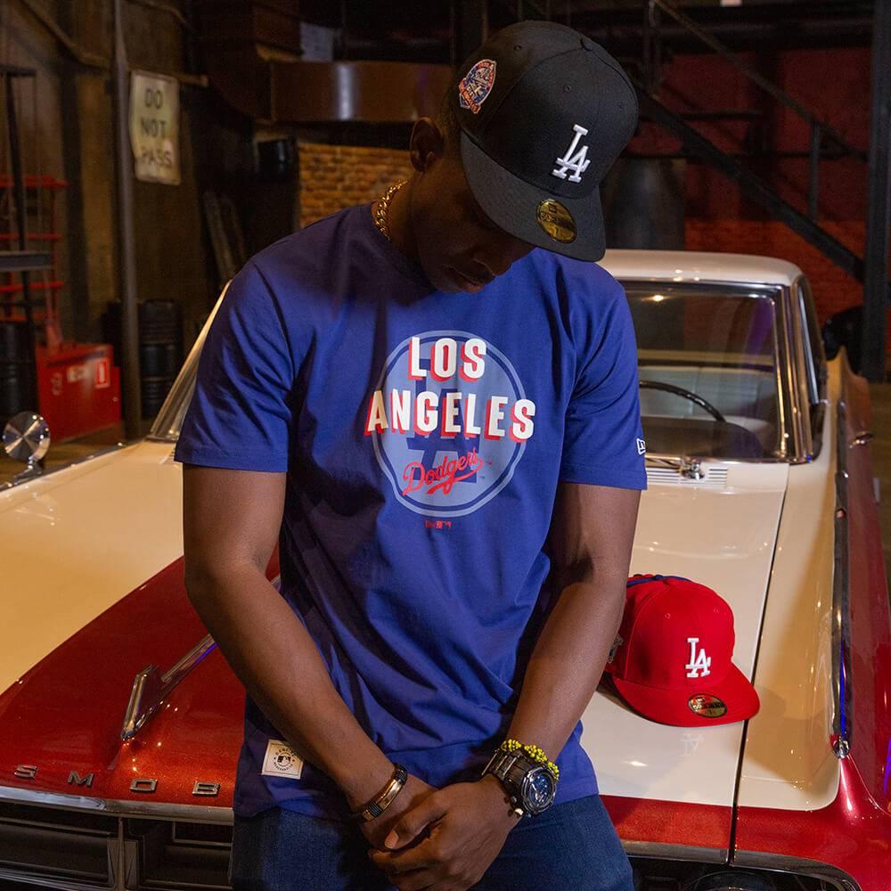 T-SHIRT MLB LOS ANGELES DODGERS HERITAGE BLUE