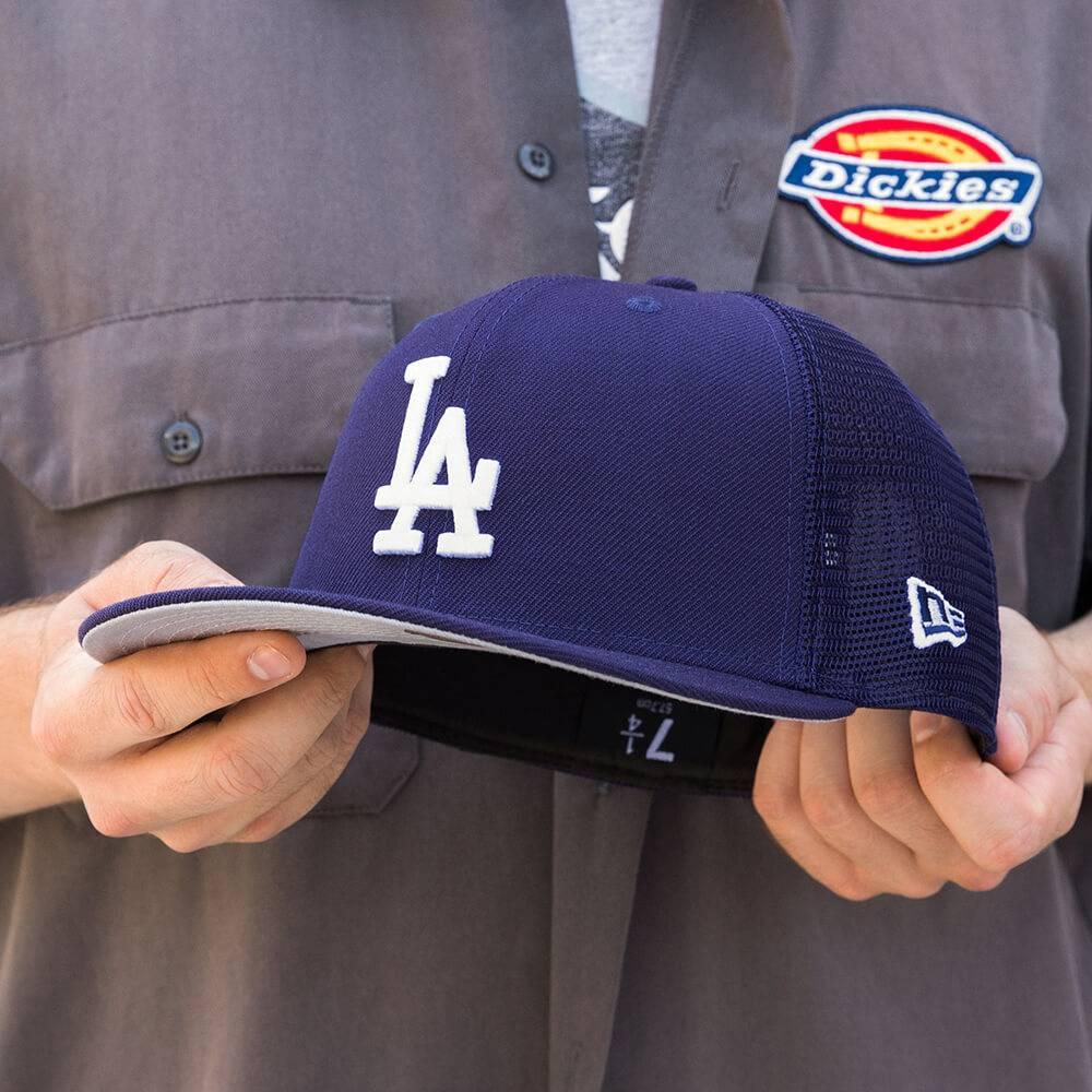 LIMITED 59FIFTY MLB LOS ANGELES DODGERS DARK ROYAL MESH /GREY UV