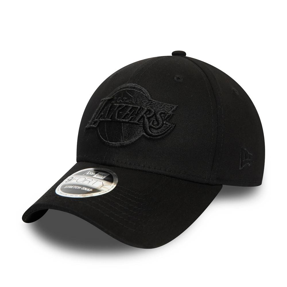 9FORTY STRETCH SNAP NBA LOS ANGELES LAKERS BLACK/BLACK CAP