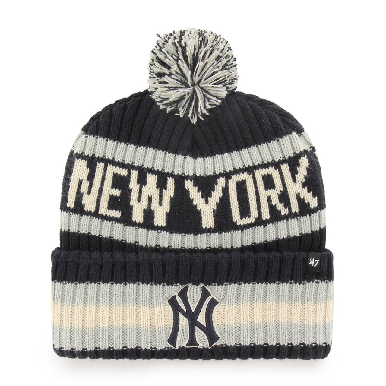 MLB NEW YORK YANKEES BERING ´47 CUFF KNIT NAVY/GREY