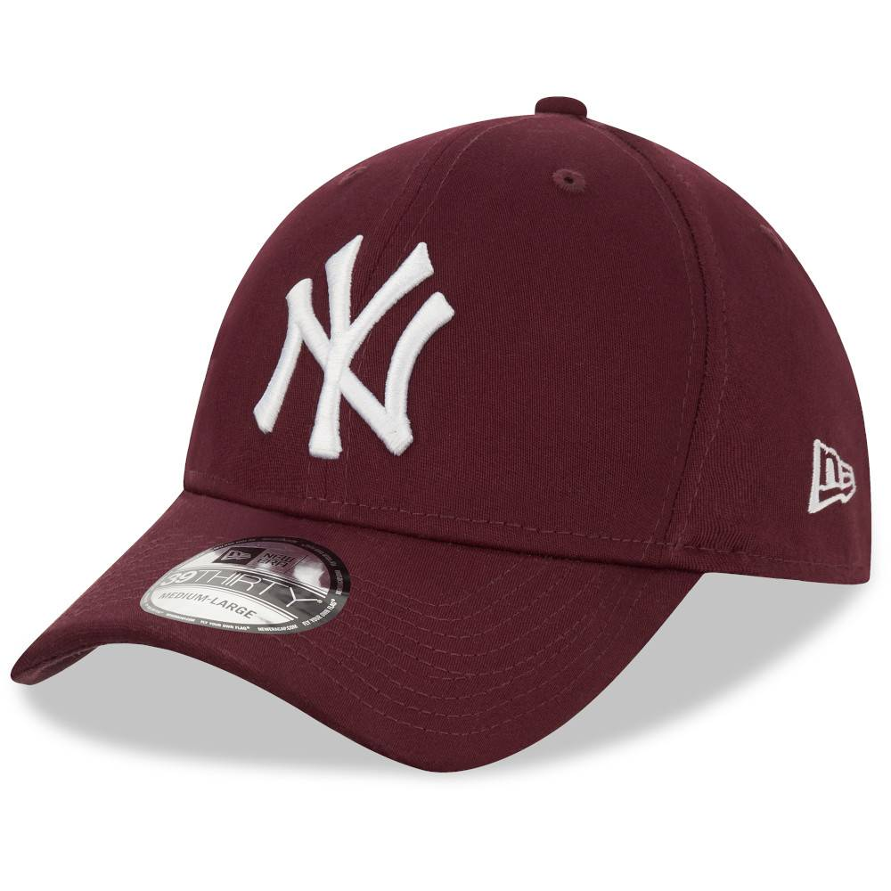 12523891 39THIRTY MLB NEW YORK YANKEES MAROON STRETCH FITTED MAROON CAP
