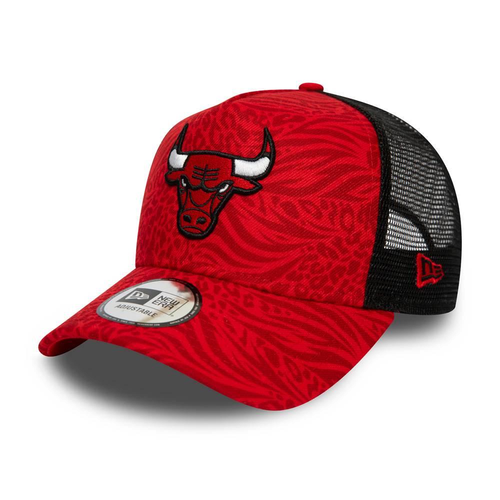 NEW ERA NBA TRUCKER CHICAGO BULLS HOOK RED/BLACK