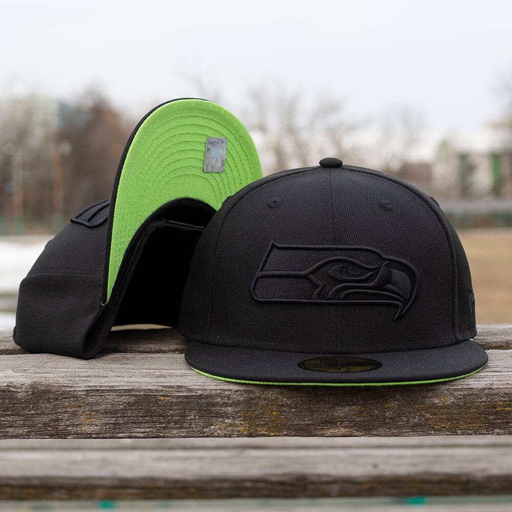 LIMITED 59FIFTY NFL SEATTLE SEAHAWKS BLACK/ACTION GREEN UNDERBRIM