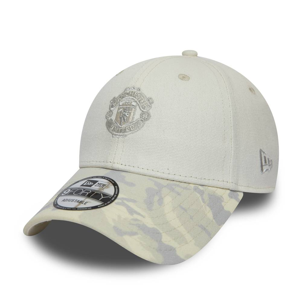12040478 9FORTY FC MANCHESTER UNITED CANVAS CREAM CAP