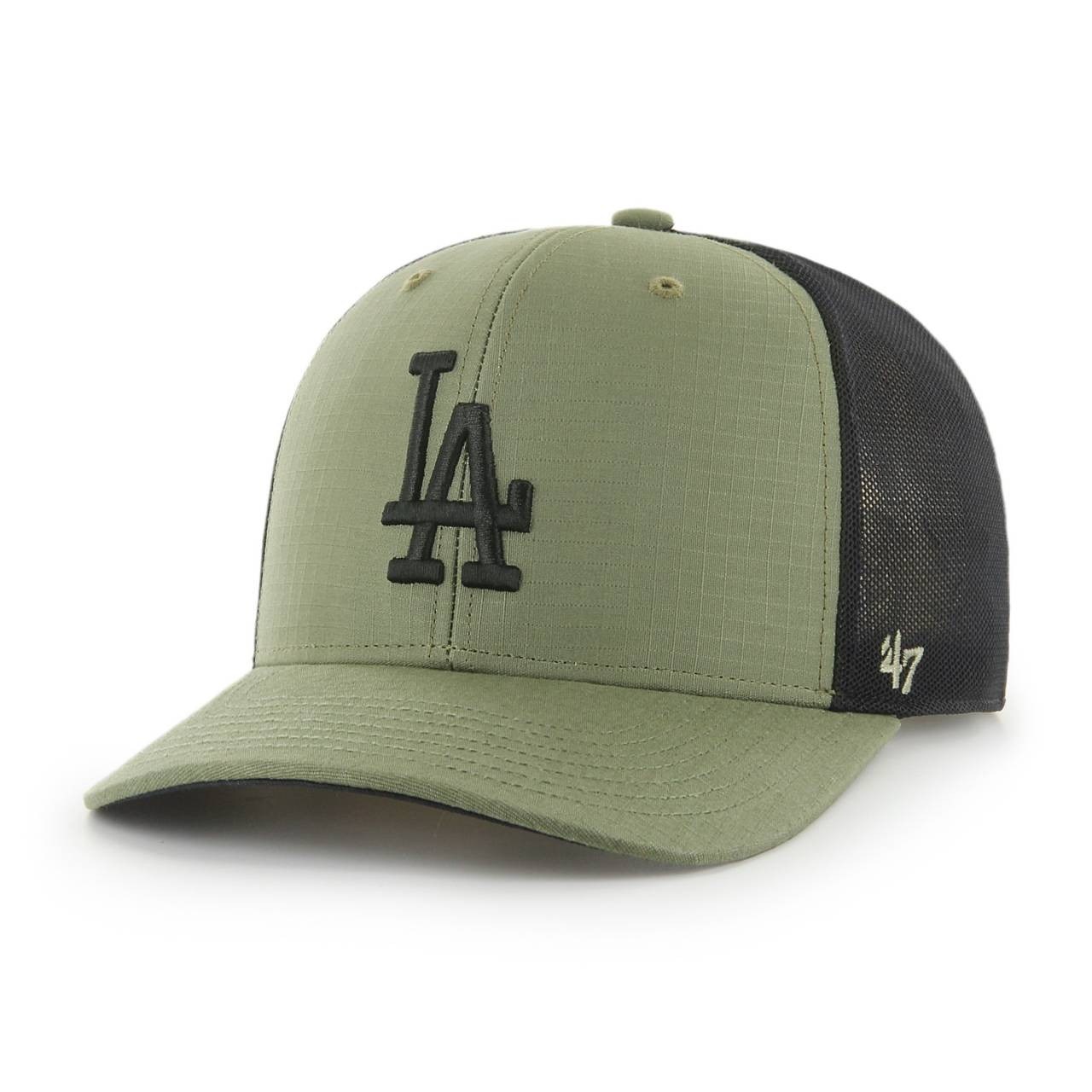MLB LOS ANGELES DODGERS GRID LOCK MESH '47 MVP DP OLIVE SNAPBACK