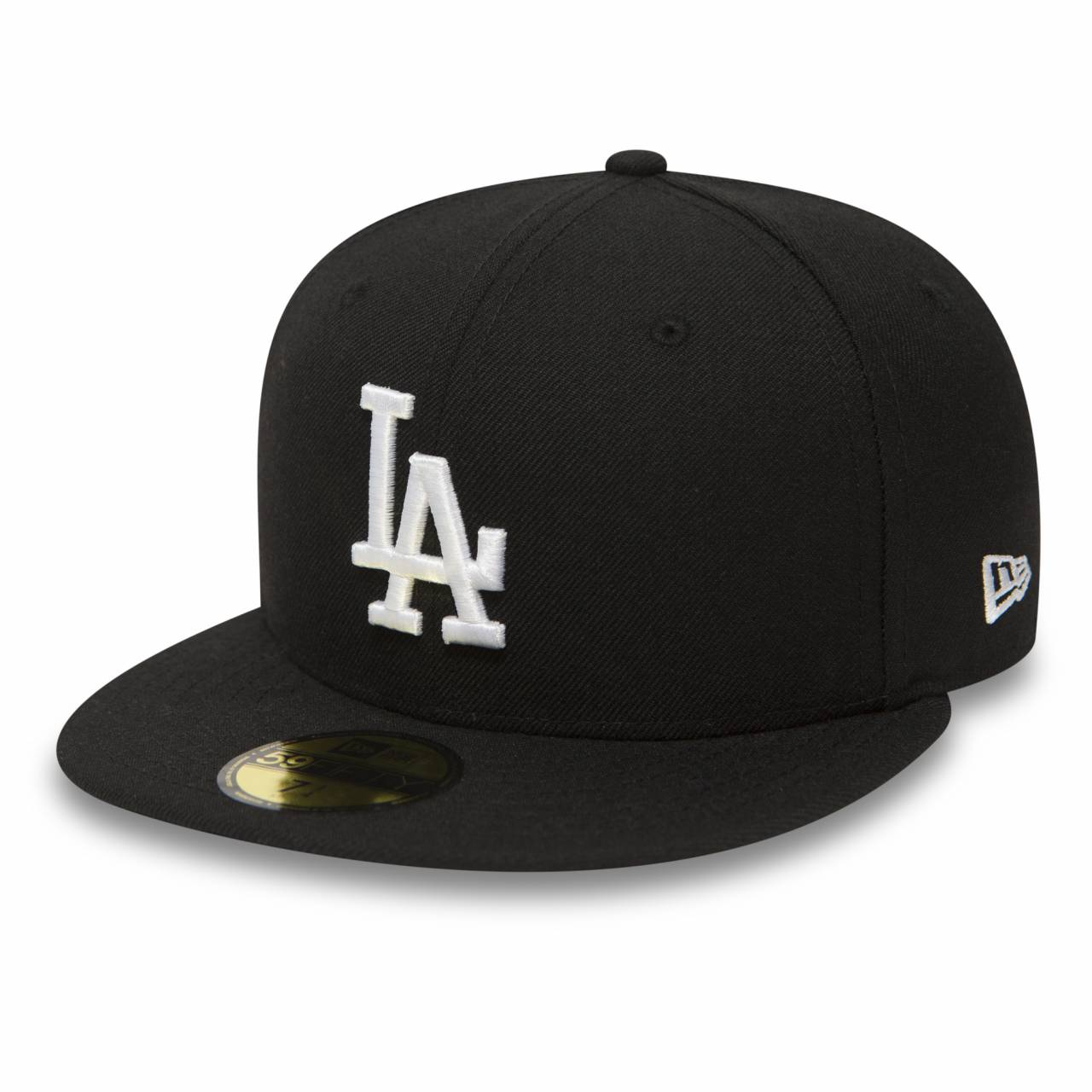 10047495 59FIFTY LOS ANGELES DODGERS BLACK/WHITE FITTED CAP