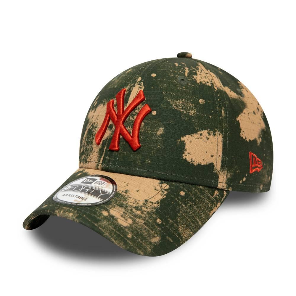 12490113-9FORTY MLB NEW YORK YANKEES BLUR CAMO RIPSTOP CAP