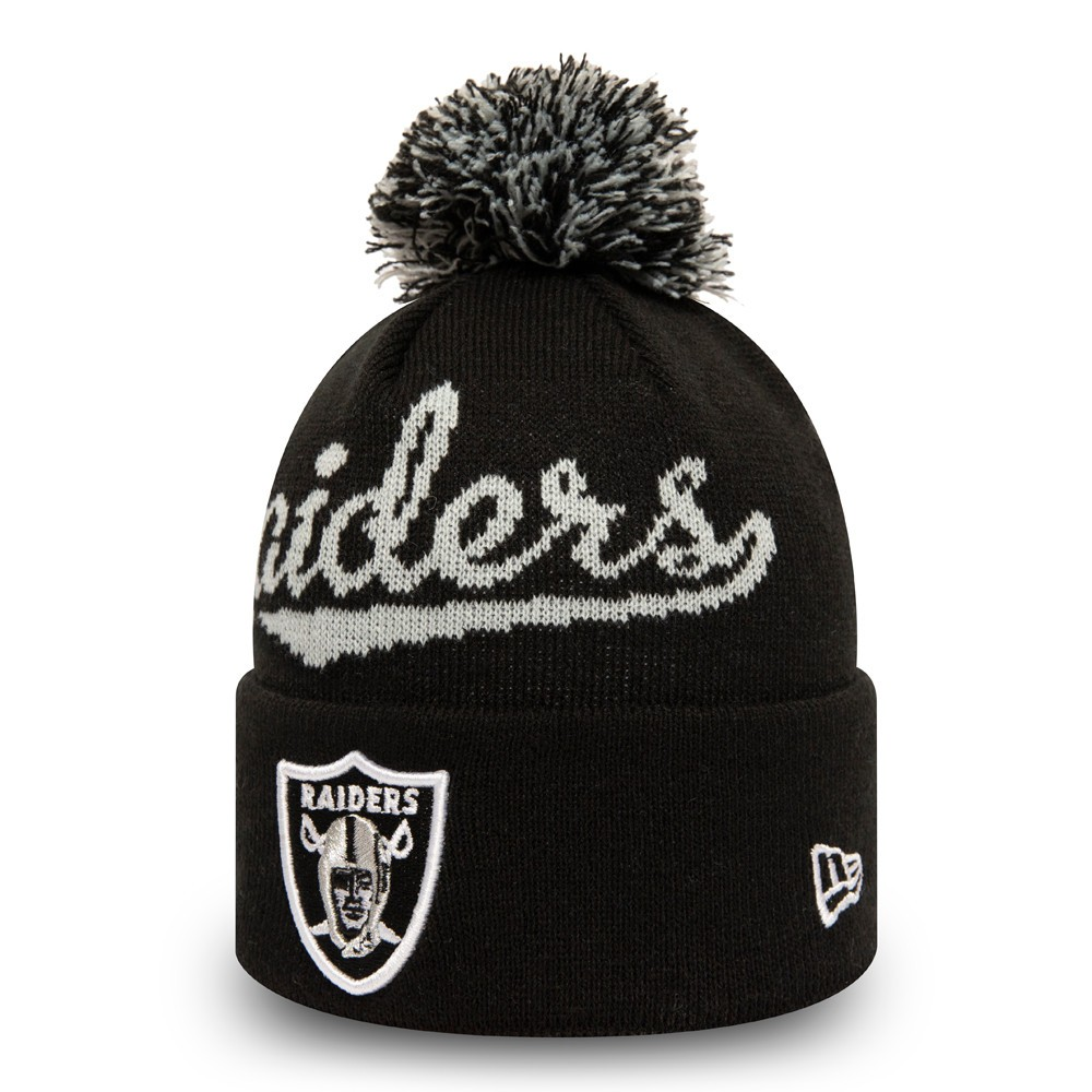 NEW ERA LAS VEGAS RAIDERS TEAM BOBBLE CUFF KNIT