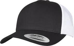 RETRO TRUCKER 2-TONE SCHWARZ/WEISS CAP