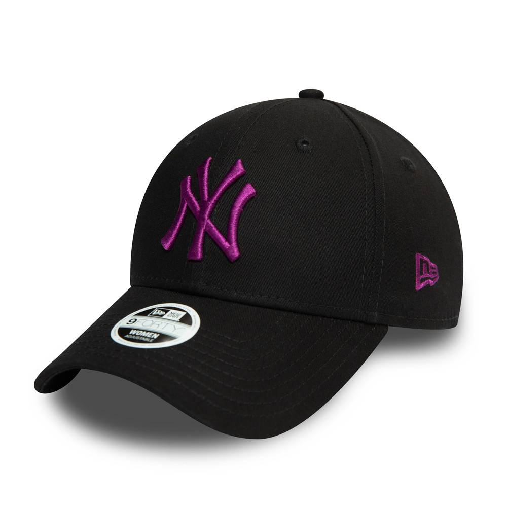 9FORTY WOMEN MLB NEW YORK YANKEES COLOR ESSENTIAL BLACK CAP