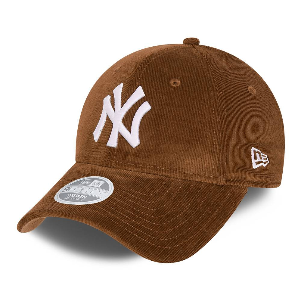 9FORTY WOMEN MLB NEW YORK YANKEES CORD TOFFEE CAP