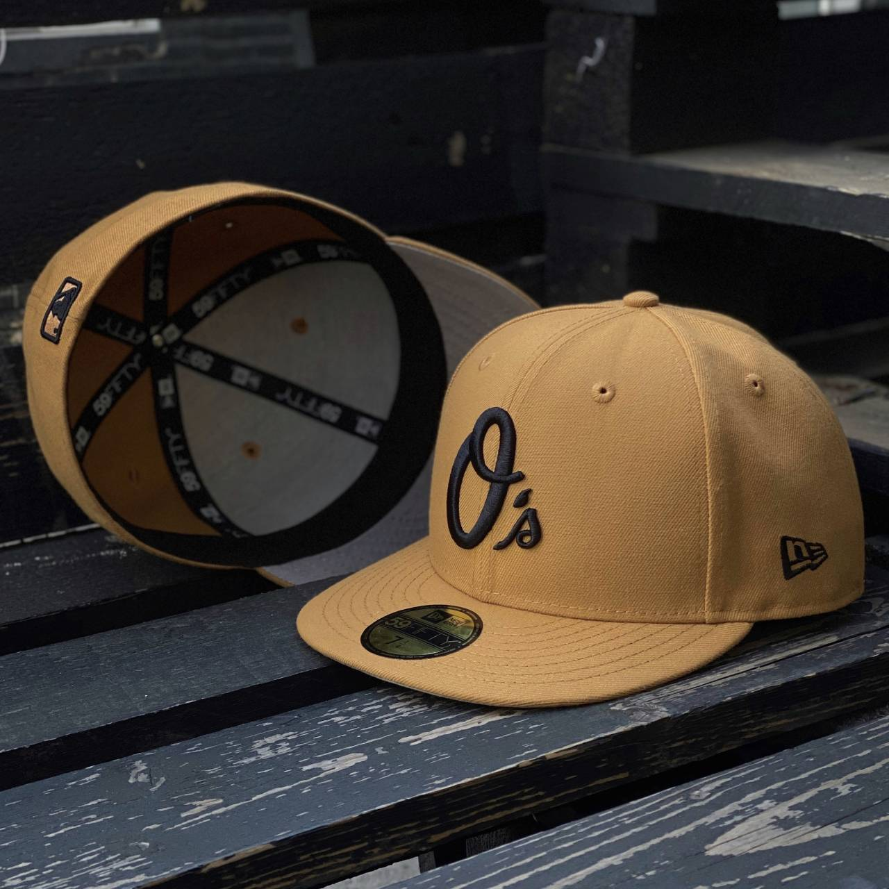 EXCLUSIVE 59FIFTY MLB BALTIMORE ORIOLES PEANUT/GREY UNDERBRIM