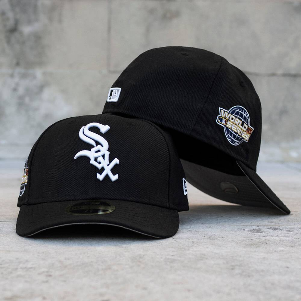 LIMITED 59FIFTY LOW PROFILE MLB CHICAGO WHITE SOX WS 2005 BLACK/GREY UNDERBRIM
