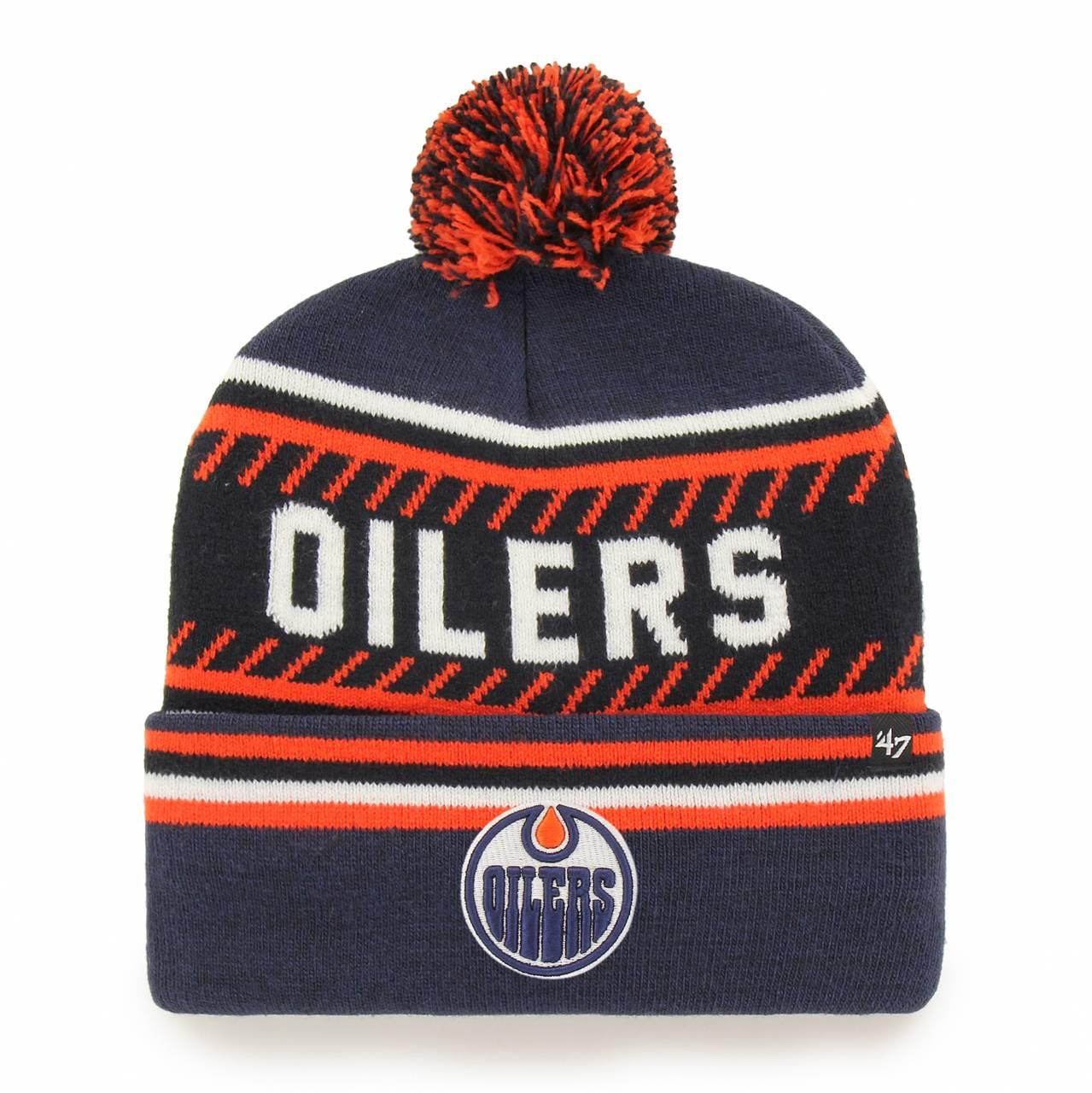 NHL EDMONTON OILERS ICE CAP ´47 CUFF KNIT NAVY