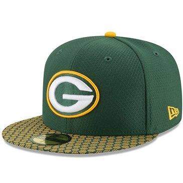 11462087 59FIFTY NFL GREEN BAY PACKERS SIDELINE FITTED CAP