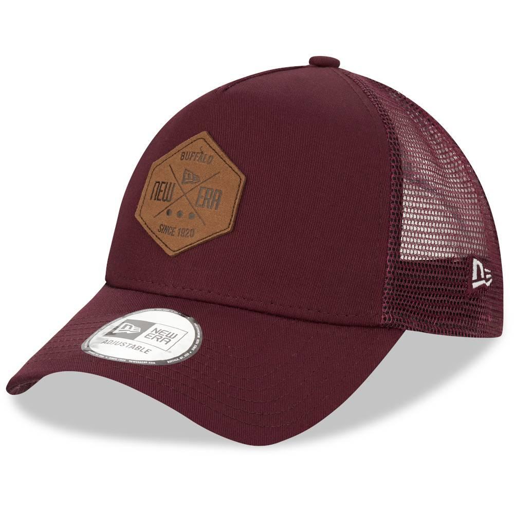 12523901 TRUCKER A-FRAME NEW ERA PATCH MAROON CAP