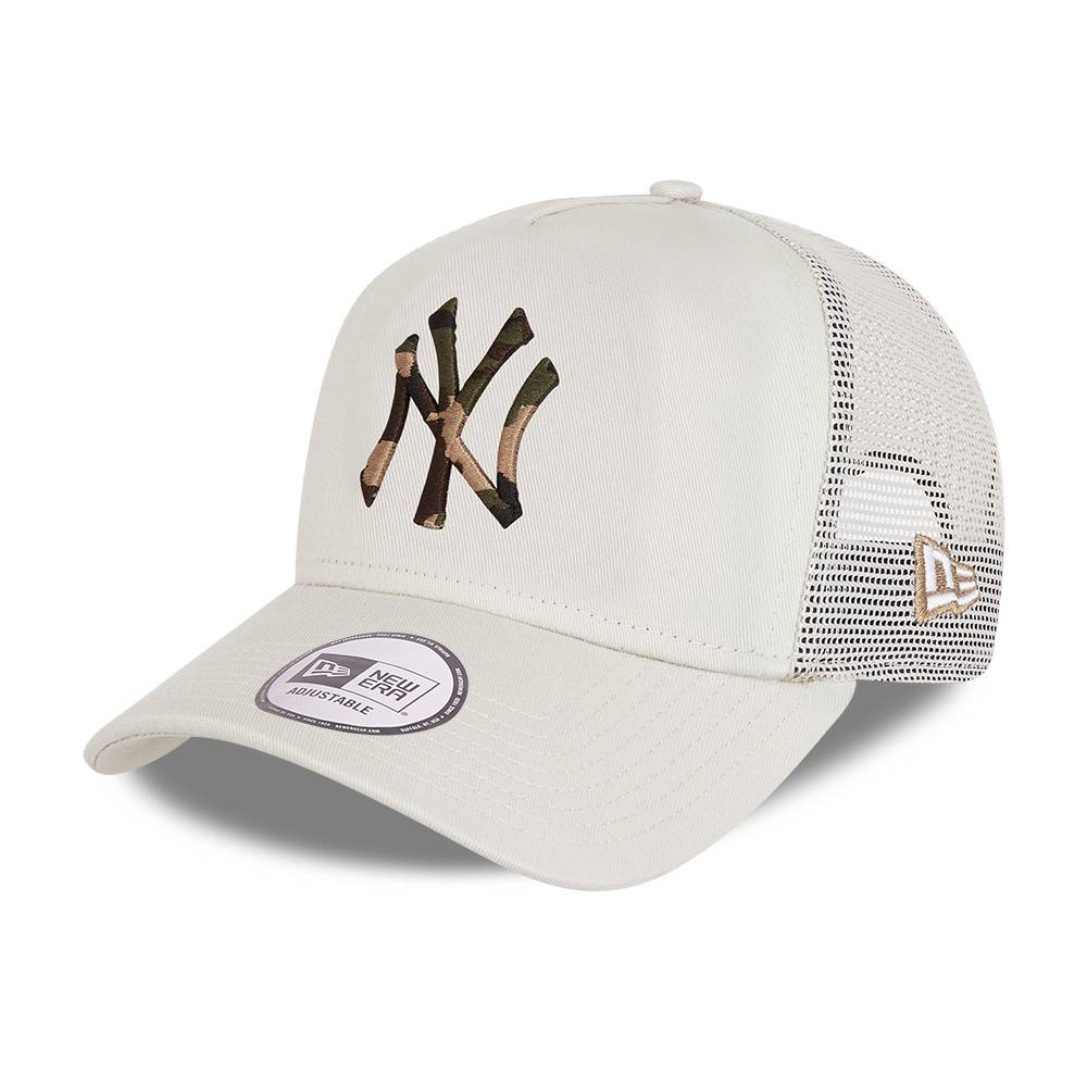 9FORTY A-FRAME TRUCKER MLB NEW YORK YANKEES CAMO INFILL STONE CAP