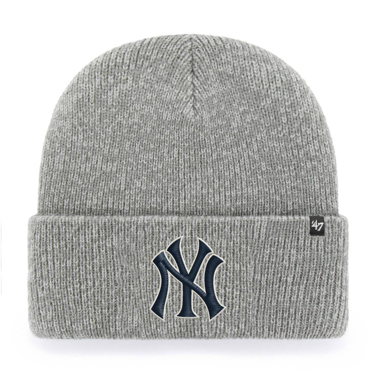 MLB NEW YORK YANKEES BRAIN FREEZE ´47 CUFF KNIT GREY