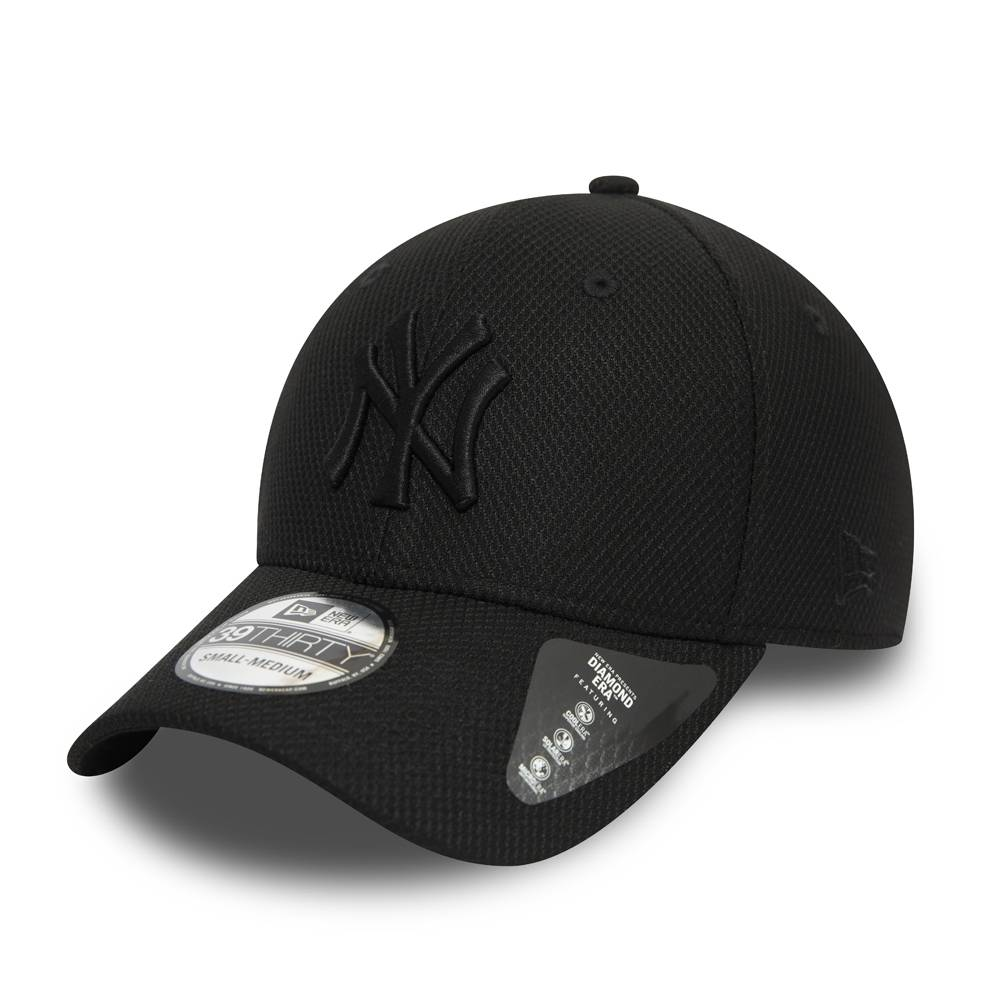 12523910 39THIRTY MLB NEW YORK YANKEES DIAMOND ERA STRETCH FIT BLACK CAP