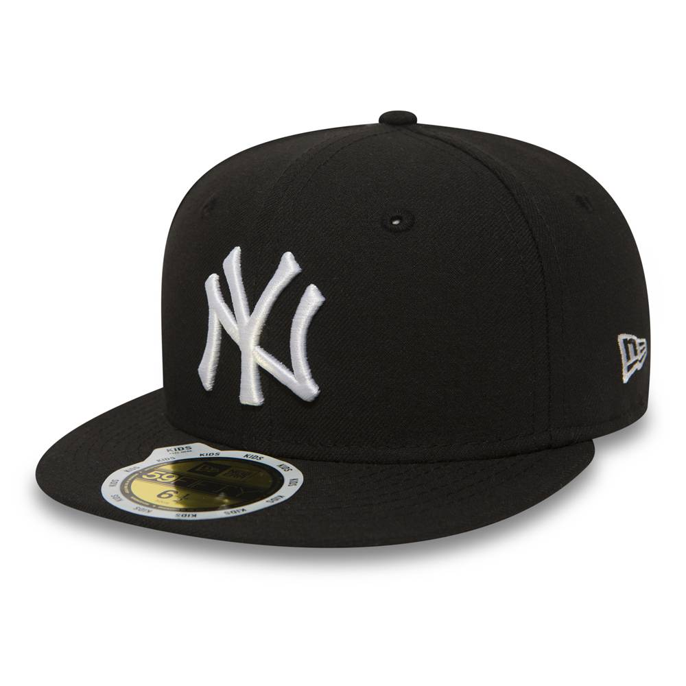 10879081 KIDS 59FIFTY MLB NEW YORK YANKEES BLACK FITTED CAP