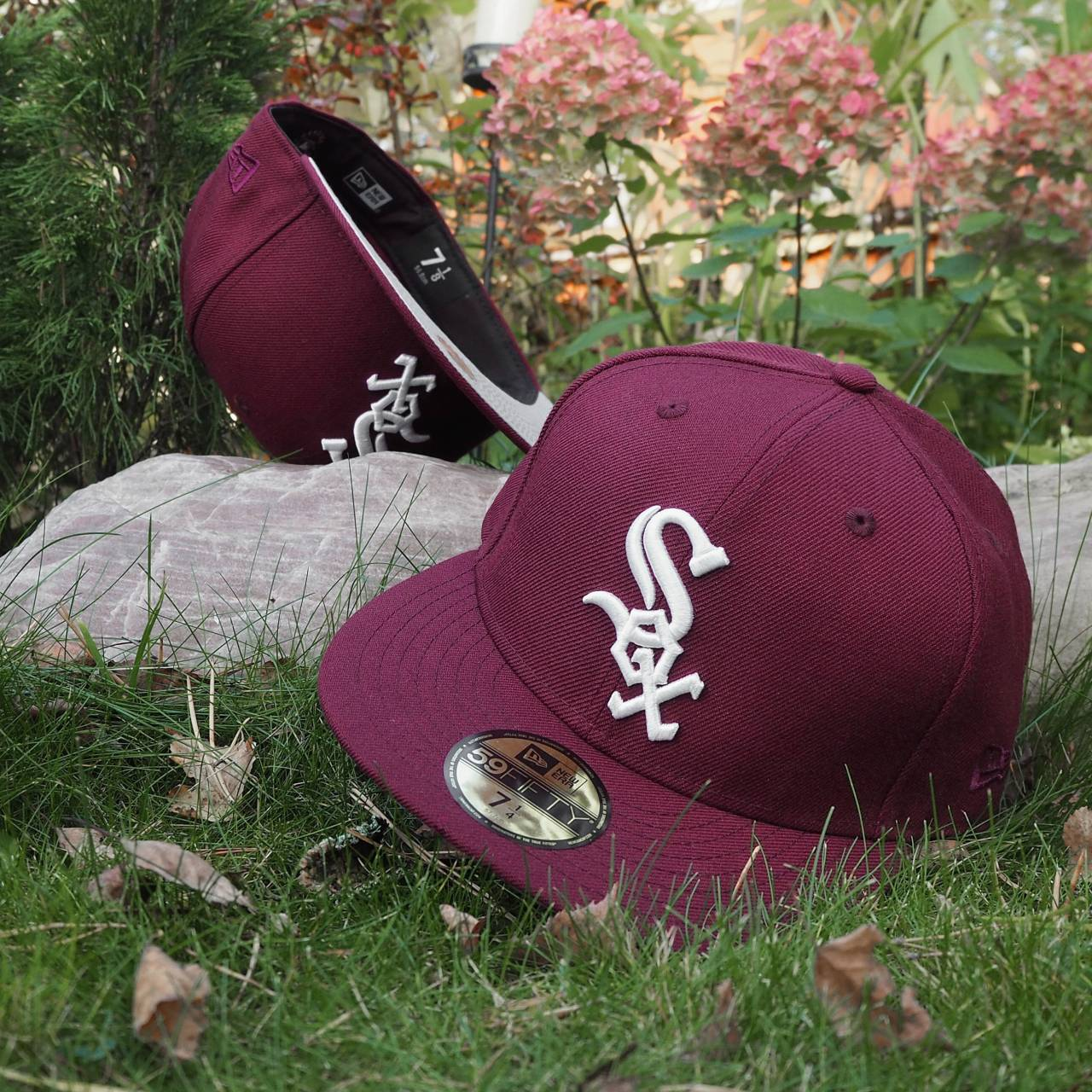 New Era 59FIFTY MLB Chicago White Sox Maroon/ Grey Underbrim fitted cap