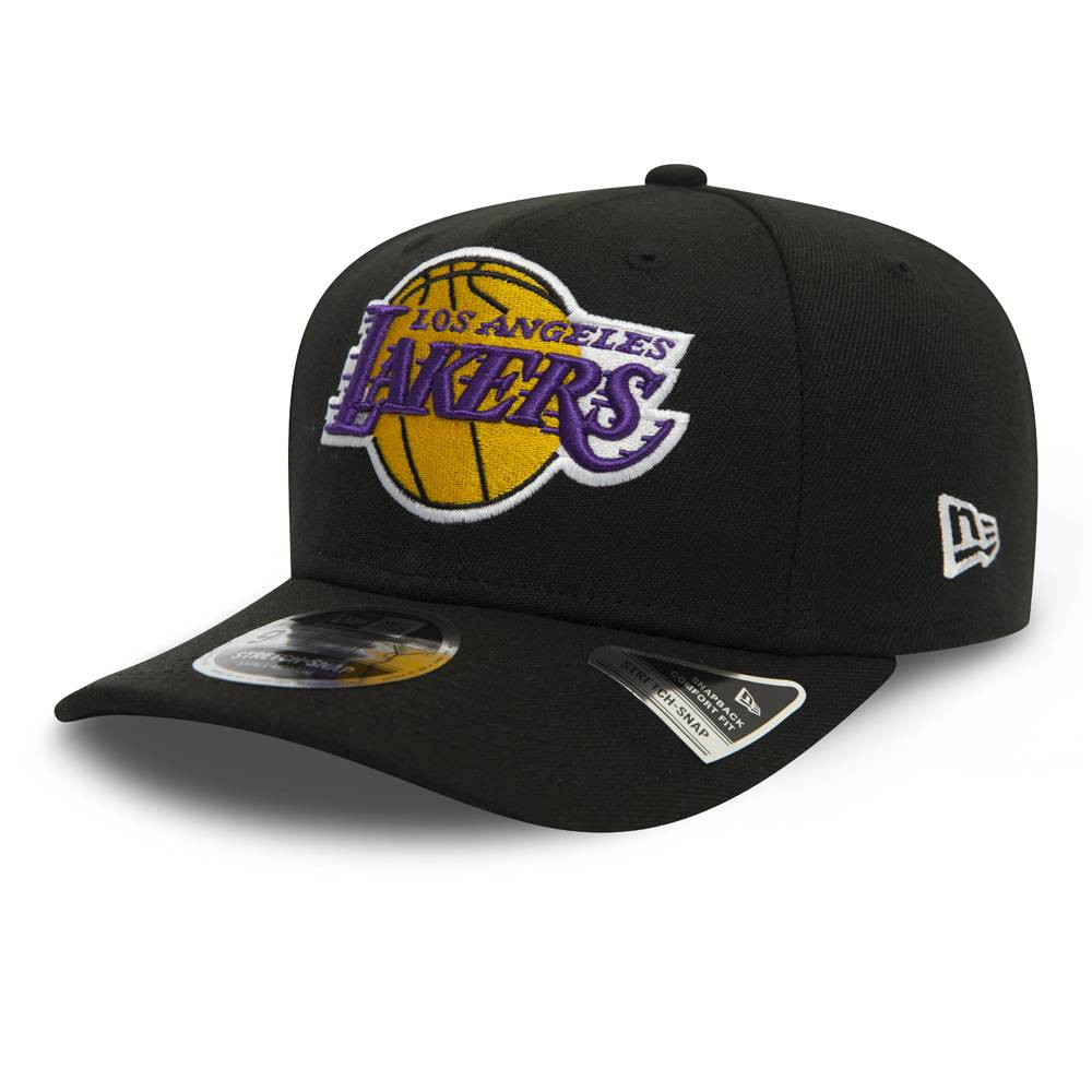 11901827 9FIFTY NBA LOS ANGELES LAKERS STRETCH SNAP BLACK CAP