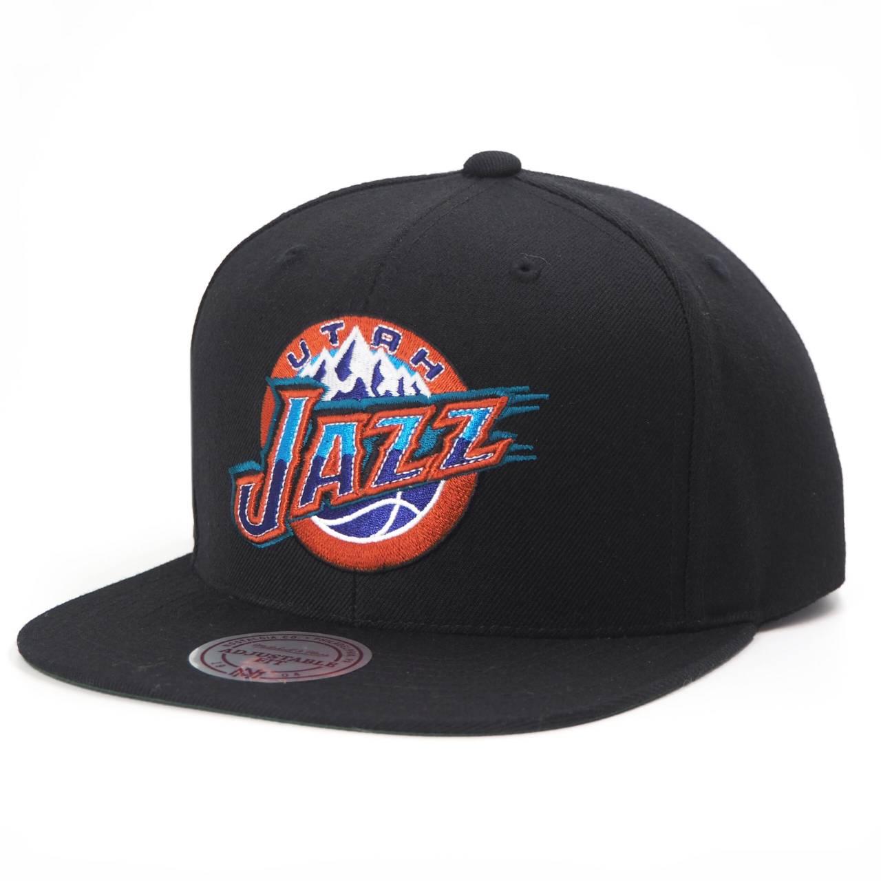 MN-HWC-INTL405-UTAJAZ-BLK NBA UTAH JAZZ WOOL SOLID SNAPBACK BLACK