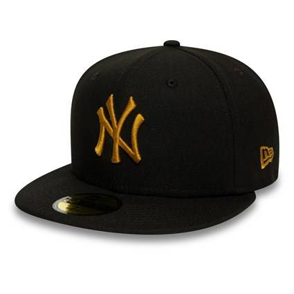 59FIFTY MLB NEW YORK YANKEES BLACK/GOLD FITTED CAP