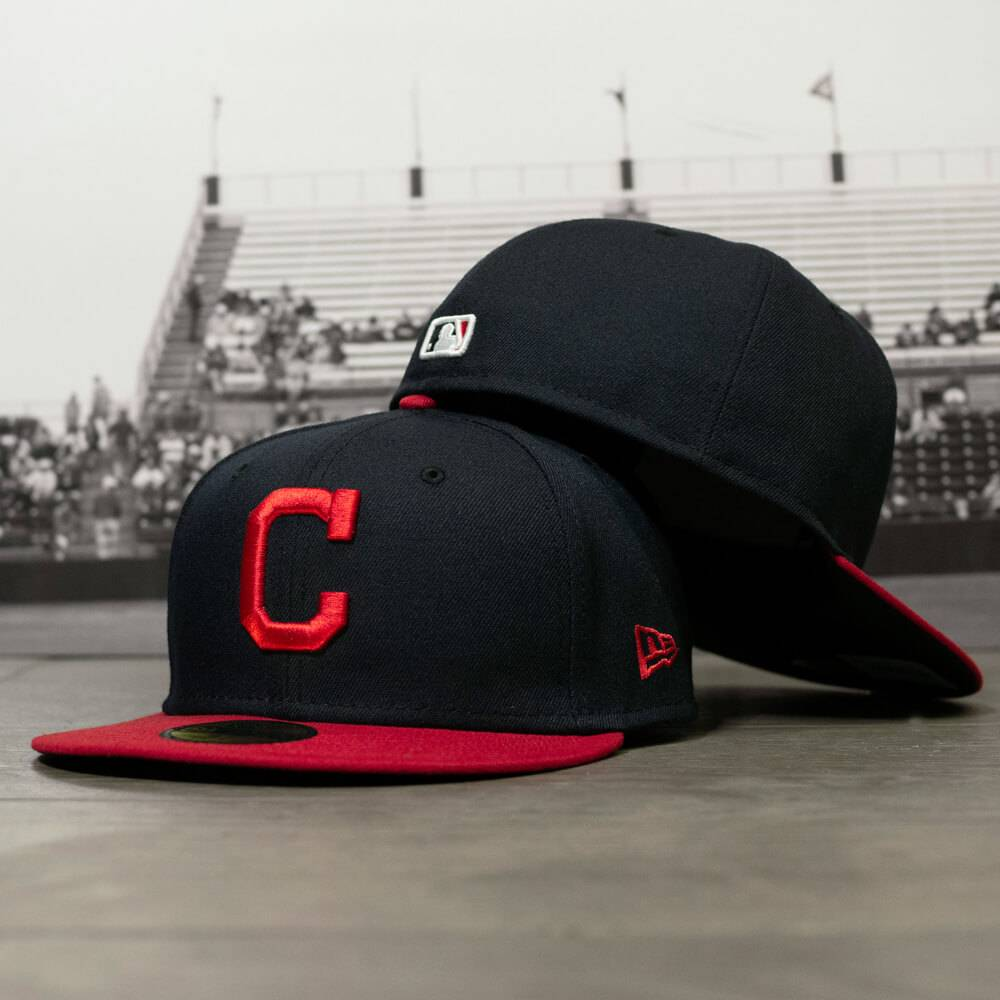 59FIFTY MLB AUTHENTIC CLEVELAND INDIANS TEAM FITTED CAP