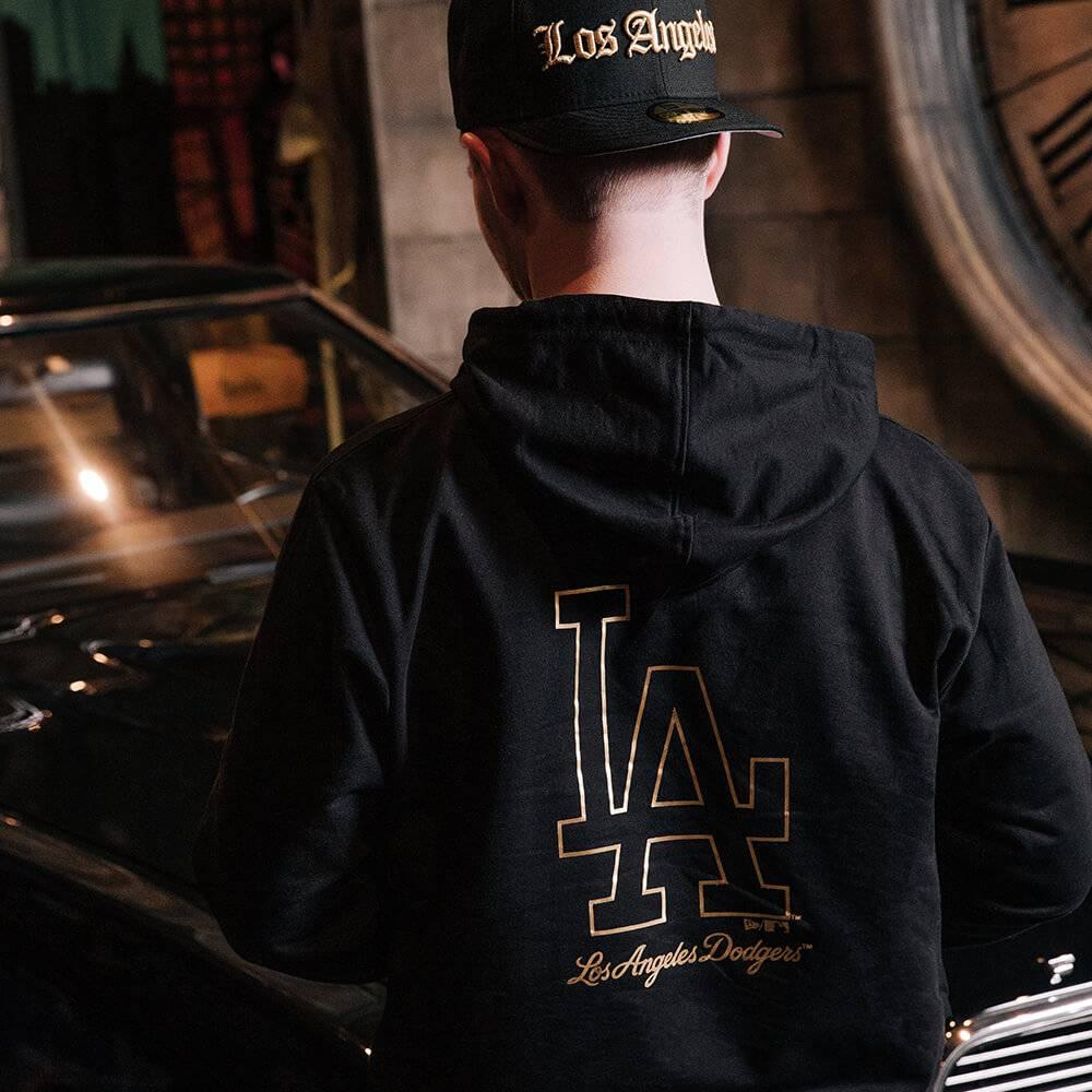 HOODIE MLB LOS ANGELES DODGERS METALLIC SCHWARZ