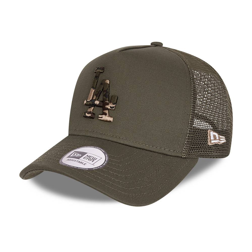 9FORTY A-FRAME TRUCKER MLB LOS ANGELES DODGERS CAMO INFILL KHAKI CAP