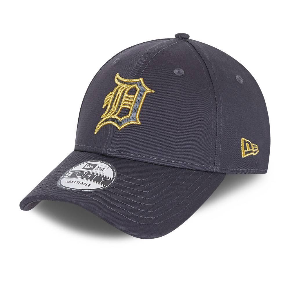 9FORTY MLB DETROIT TIGERS METALLIC LOGO GREY CAP