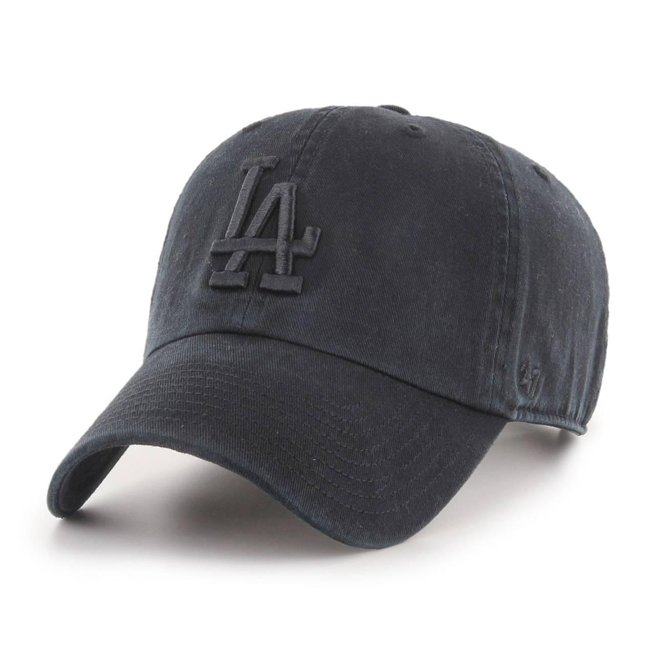 MLB LOS ANGELES DODGERS '47 CLEAN UP BLACK/BLACK CAP