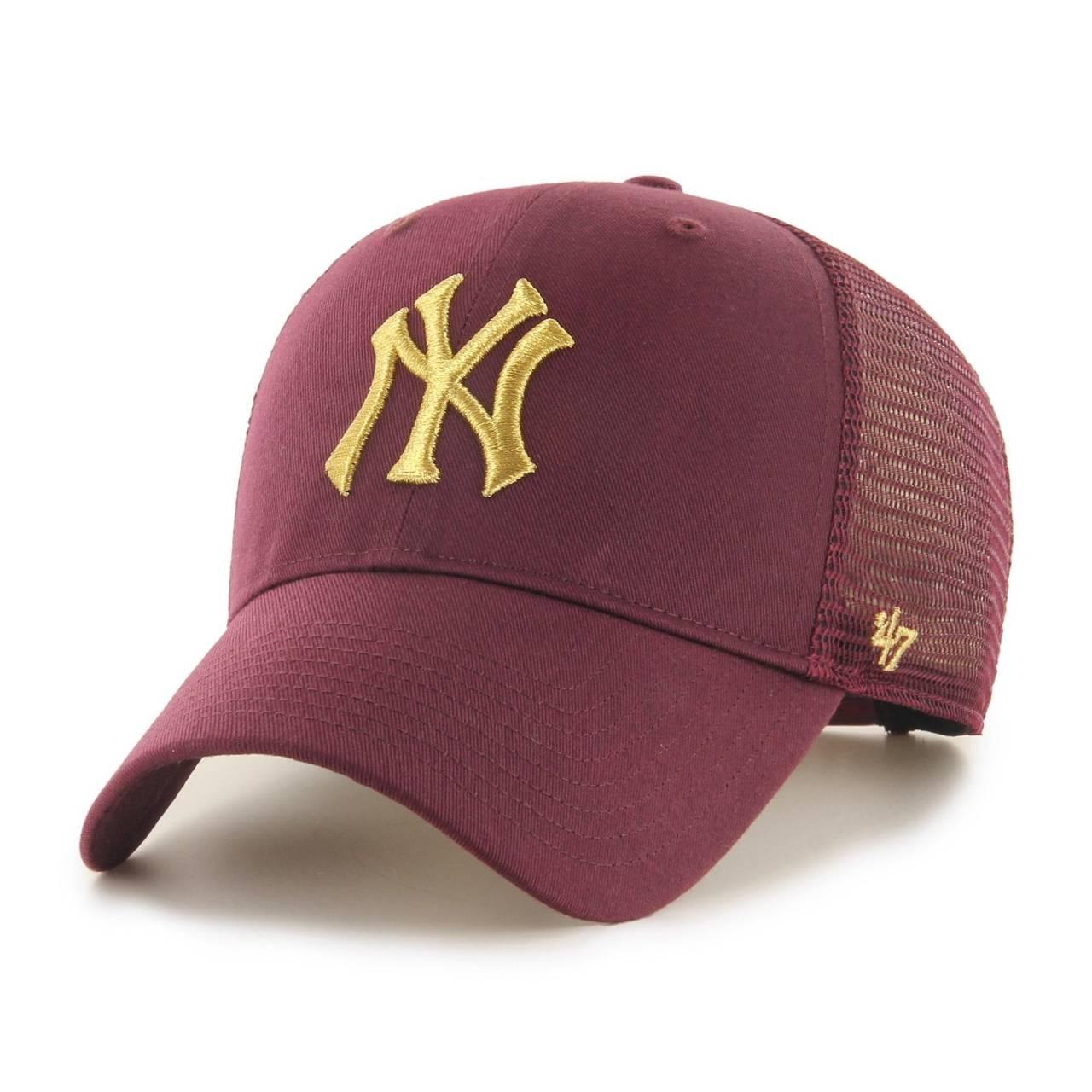 MLB NEW YORK YANKEES BRANSON METALLIC '47 MVP MAROON