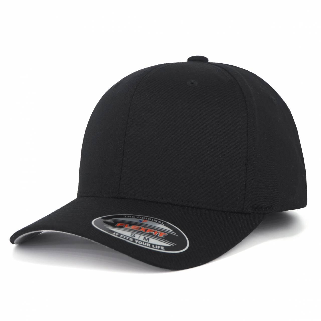 6277-00007-00 FLEXFIT WOOLY COMBED BLACK BLANK CAP